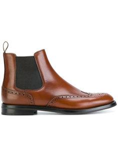 ботинки челси с брогированием Churchs