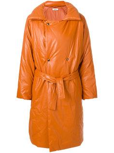 объемное двубортное пальто Marios