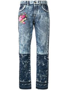 джинсы с вышивкой с эффектом потертости Dolce & Gabbana