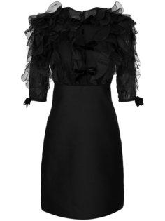 платье с отделкой перьями  Giambattista Valli