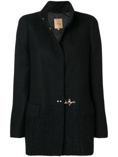 пальто с пряжками  Fay