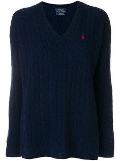 свитер с узором косы Polo Ralph Lauren