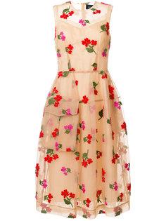 платье с цветочной вышивкой Simone Rocha