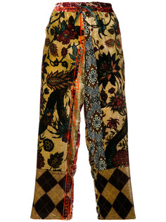 укороченные брюки с вышивкой  Pierre-Louis Mascia