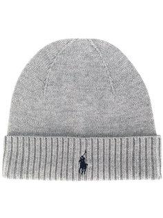 вязаная шапка с вышитым логотипом Polo Ralph Lauren