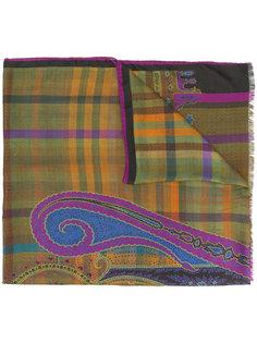 шарф с комбинированным принтом Etro