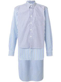 рубашка с неравномерным подолом Comme Des Garçons Shirt
