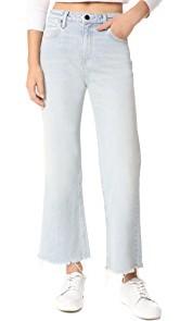 Denim x Alexander Wang Cropped Loose Kick Bleach Jeans