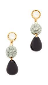 Lizzie Fortunato Moss & Agate Drop Earrings