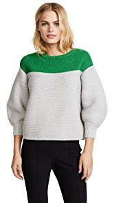 Vika Gazinskaya Mercerized Colorblocked Sweater