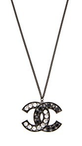 What Goes Around Comes Around Chanel Crystal CC Necklace (Previously Owned)