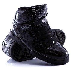 Кеды кроссовки высокие женские Osiris Nyc 83 Black/Silver