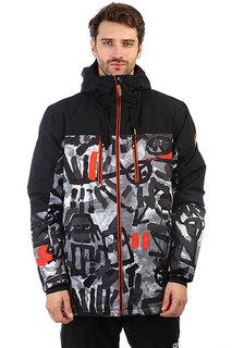 Куртка утепленная Quiksilver Mission Bloc Arkaid Black & White