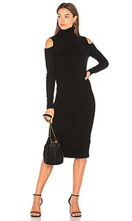 Платье с длинным рукавом и высоким воротом cold shoulder - Autumn Cashmere
