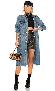 Длинное джинсовое пальто iman - GRLFRND