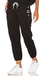 Трикотажные брюки с люверсами - MONROW