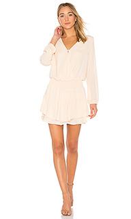 Платье с v-образным вырезом и ложным запахом спереди - krisa
