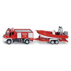 SIKU 1636 Пожарная машина Unimog с катером 1:87