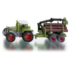 SIKU 1645 Трактор с прицепом для перевозки бревен