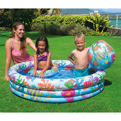 Детский игровой надувной набор с бассейном, Intex