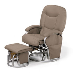 Кресло-качалка для мамы Metal Glider, Hauck, creme