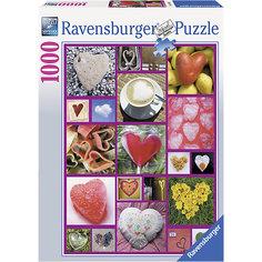 Пазл «Сердца» 1000 деталей, Ravensburger