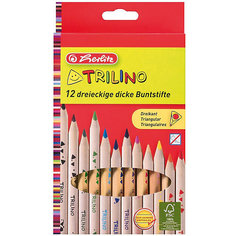 Цветные карандаши Herlitz, 12 шт. трехгранные