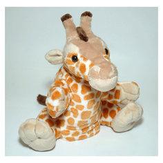 Gulliver Мягкая игрушка жираф-руковичка, 27см