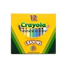 Набор из 12 разноцветных восковых мелков, Crayola