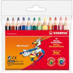 Набор цветных карандашей, 12 цв., Trio Stabilo