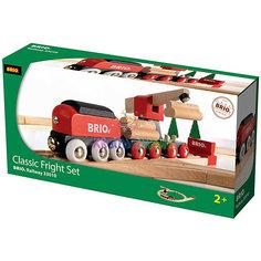 Железная дорога для малышей, с краном, Brio