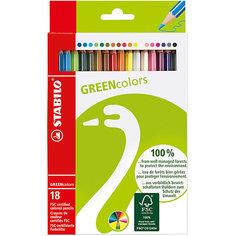 Набор цветных карандашей, 18 цв., GREEN COLOURS Stabilo