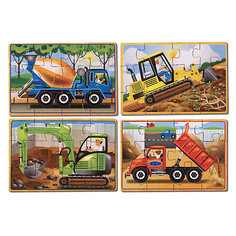 """Деревянные пазлы """"Строительство"""", Melissa & Doug"""