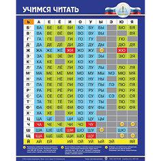 """Электронный звуковой плакат """"Учимся читать"""" Знаток"""
