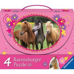 Набор пазлов «Красивые лошади» 2х64 и 2х81 деталей, Ravensburger