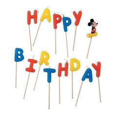 """Procos Свечи-буквы """"Микки Маус Happy Birthday"""""""