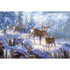 """Пазл """"Олени в зимних горах"""", 1000 деталей, Castorland"""