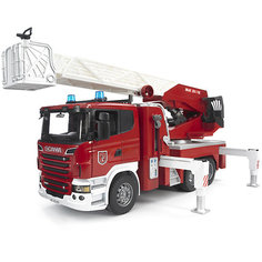 Пожарная машина Scania с выдвижной лестницей и помпой, Bruder