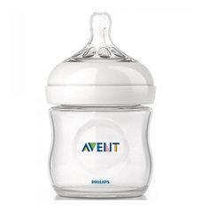 Бутылочка для кормления Natural 125 мл, соска медленный поток, 0-6мес., AVENT