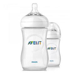 Бутылочки для кормления Natural, 260 мл, медленный поток, 2 шт., AVENT