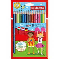 Набор цветных карандашей 18 цв. Stabilo