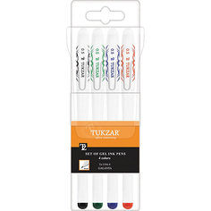Набор гелевых ручек: 4 цвета, флуоресцентные Tukzar