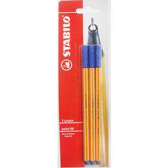 STABILO Tropicana Ручка синяя, 3шт.