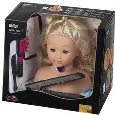 Модель для причесок с утюжком для волос, BRAUN Klein