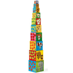 DJECO Кубики-пирамида Мои друзья (10 элементов)