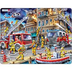 """Пазл """"Пожарники"""", 45 деталей, Larsen"""