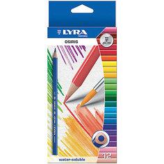 Цветные акварельные карандаши треугольной формы, 12 шт. Lyra