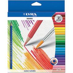 Цветные акварельные карандаши треугольной формы, 24 шт. Lyra