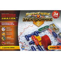 """Конструктор: Первые шаги в электронике C """"34 схемы"""", Знаток"""