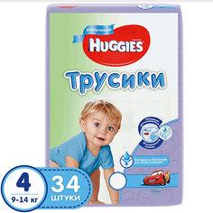 Трусики-подгузники Huggies 4 Jumbo Pack для мальчиков, 9-14 кг, 34 шт.